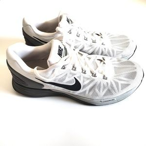 Nike Lunarglide 6 White/Black Gently Used Size 10